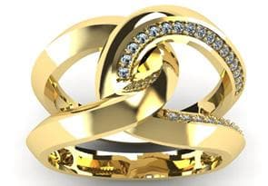 Super Bold And Gorgeous 1/4 Carat Diamond Band In 14K Yellow Gold Size 7.5 - FLJ CORPORATIONS