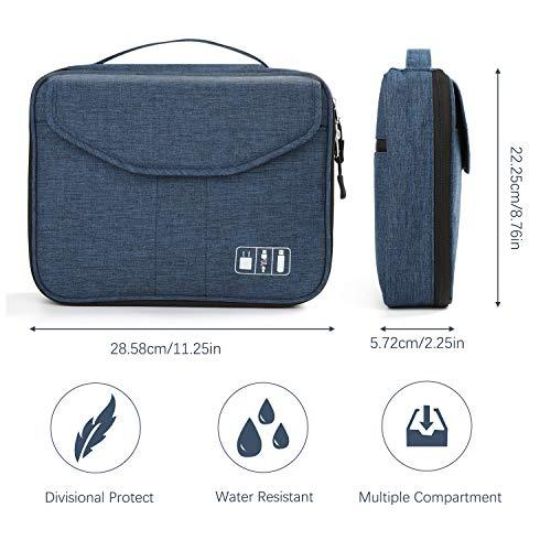 Electronics Bag, Jelly Comb Electronic Accessories Travel (11in|Black and Blue) - FLJ CORPORATIONS