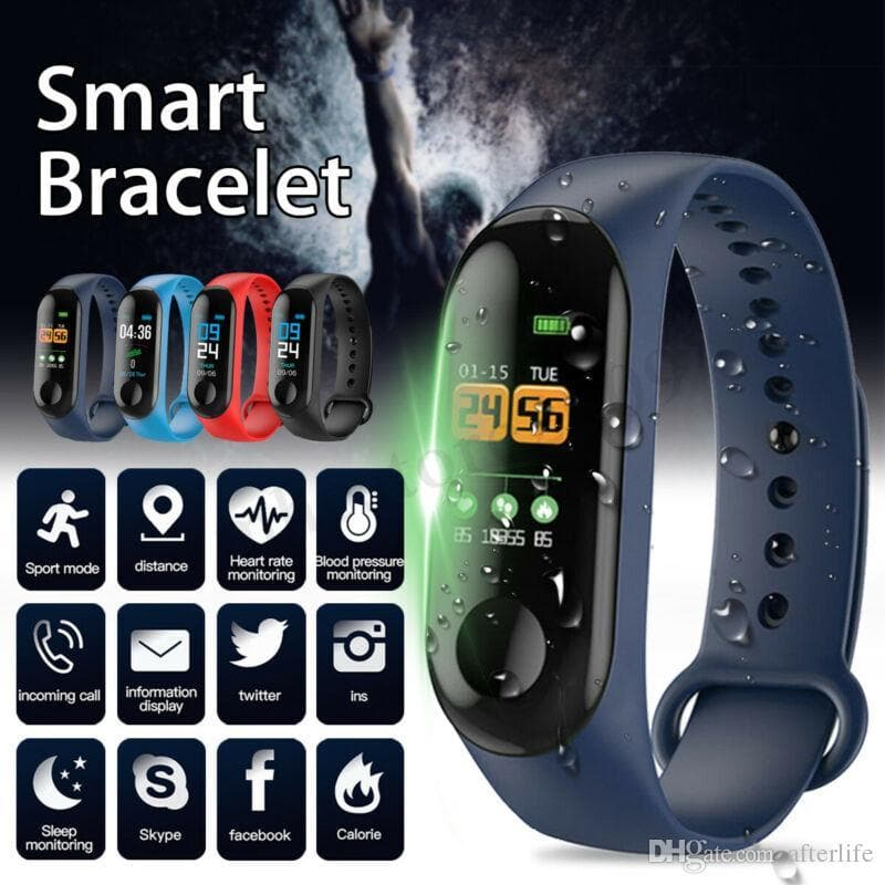Factory Store Smart Watch Band Bracelet Wristband Fitness Tracker Blood Pressure Heart Rate M3 Smartwatch Drop Shipping - FLJ CORPORATIONS