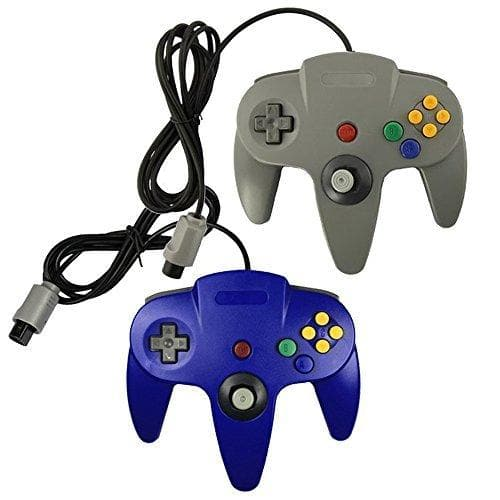 Lot Of 2 N64 Game Gaming Pad Console Controllers For Nintendo 64 N64 Blue Gray - FLJ CORPORATIONS