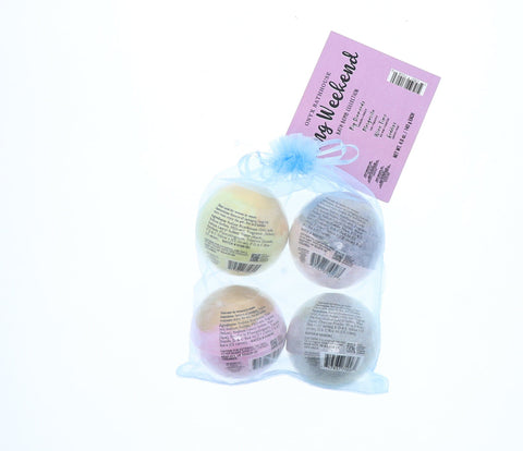 Onyx Long Weekend Bath Bomb Bundle, 4 Ct, 4.9 Oz - FLJ CORPORATIONS