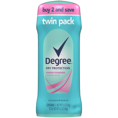 Degree Women Sheer Powder Dry Protection Antiperspirant Deodorant, 2.6 oz, Twin Pack - FLJ CORPORATIONS