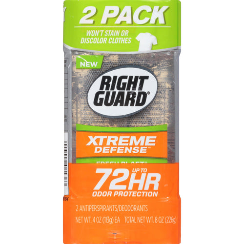 Right Guard Xtreme Defense Antiperspirant Deodorant Gel, Fresh Blast, 4 Ounce (Pack of 2) - FLJ CORPORATIONS