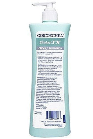 GOICOECHEA Diabet TX Body Lotion with Moisturizers (Including Soybean Oil, Per oxidized Corn Oil) Diabetes, 13.5 oz - FLJ CORPORATIONS