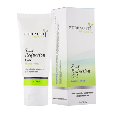 Pureauty Naturals Scar Gel - Acne, Burns, Cuts, Stretch Marks, C-Section Marks & Plastic Surgery - 60 ml - FLJ CORPORATIONS