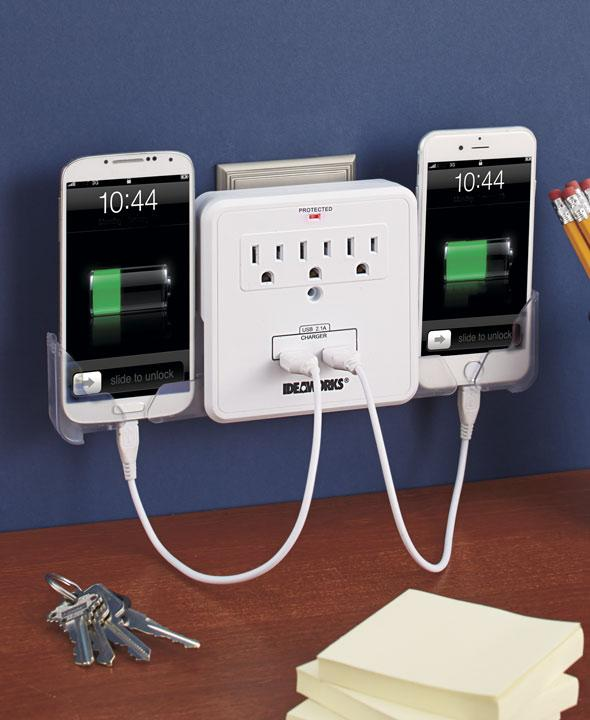 USB Outlet Multiplier with Surge Protector - FLJ CORPORATIONS
