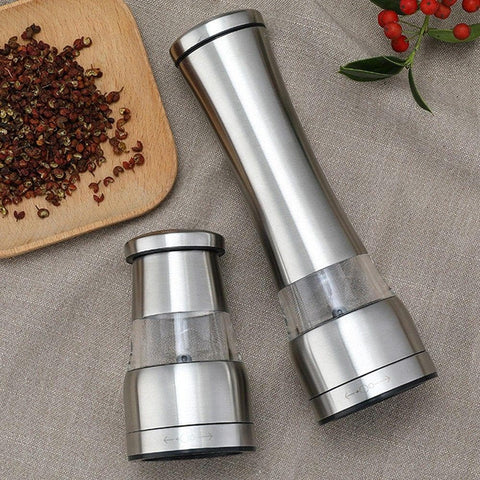 Manual Salt Pepper Grinder Kitchen Stainless Steel Mill With Adjustable Grinding Levels 21 X 6.5cm