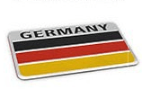 Alloy National Flag Car Decoration Logo Metal Car Sticker - FLJ CORPORATIONS
