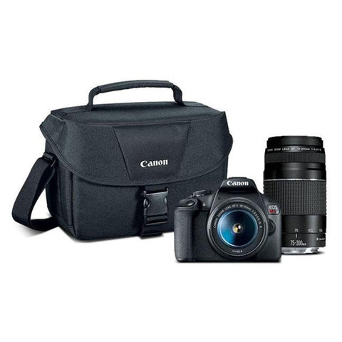 Canon EOS Rebel T7 EF18-55mm + EF 75-300mm Double Zoom KIT T7 EF18-55mm + EF 75-300mm Double Zoom KIT - FLJ CORPORATIONS