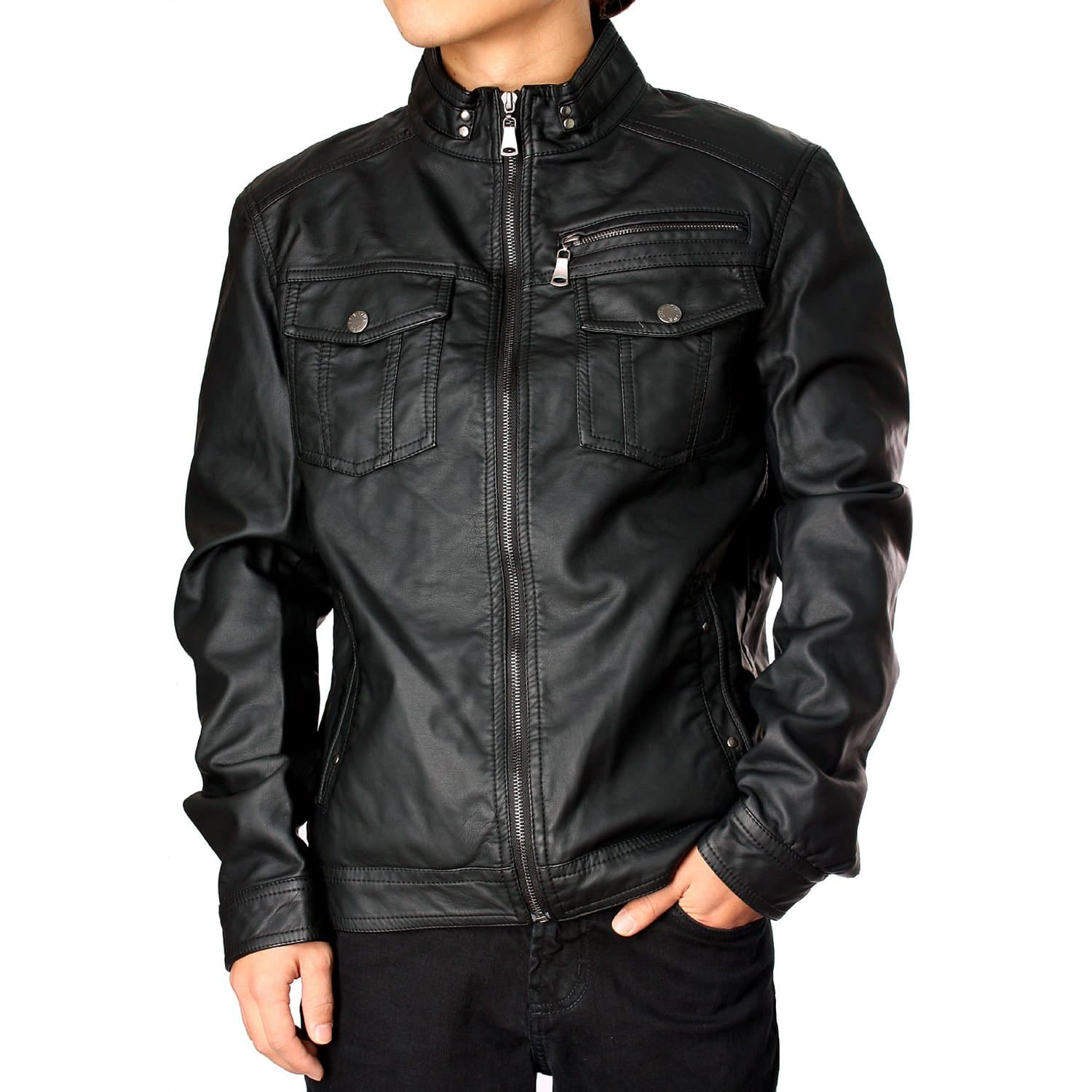 Men's Faux Leather Jacket - FLJ CORPORATIONS
