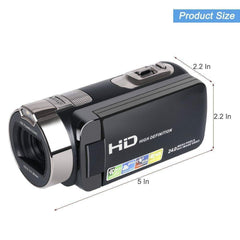 Tagital Camera Camcorder, HD 1080P 24 MP 16X Digital Zoom Video Camcorder with LCD and 270 Degree Rotation Screen