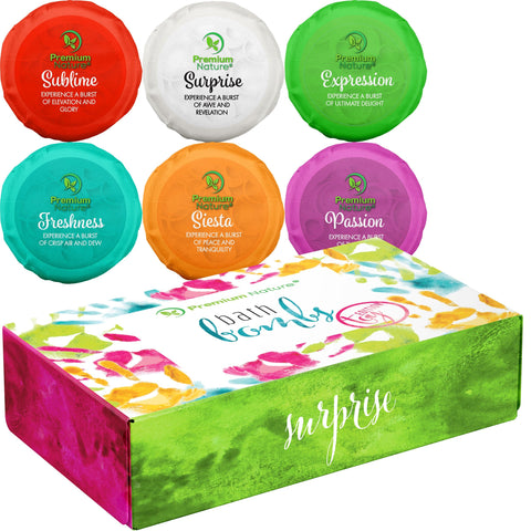 Premium Nature Toy Surprise Bath Bombs Gift Set, 6 Count - FLJ CORPORATIONS
