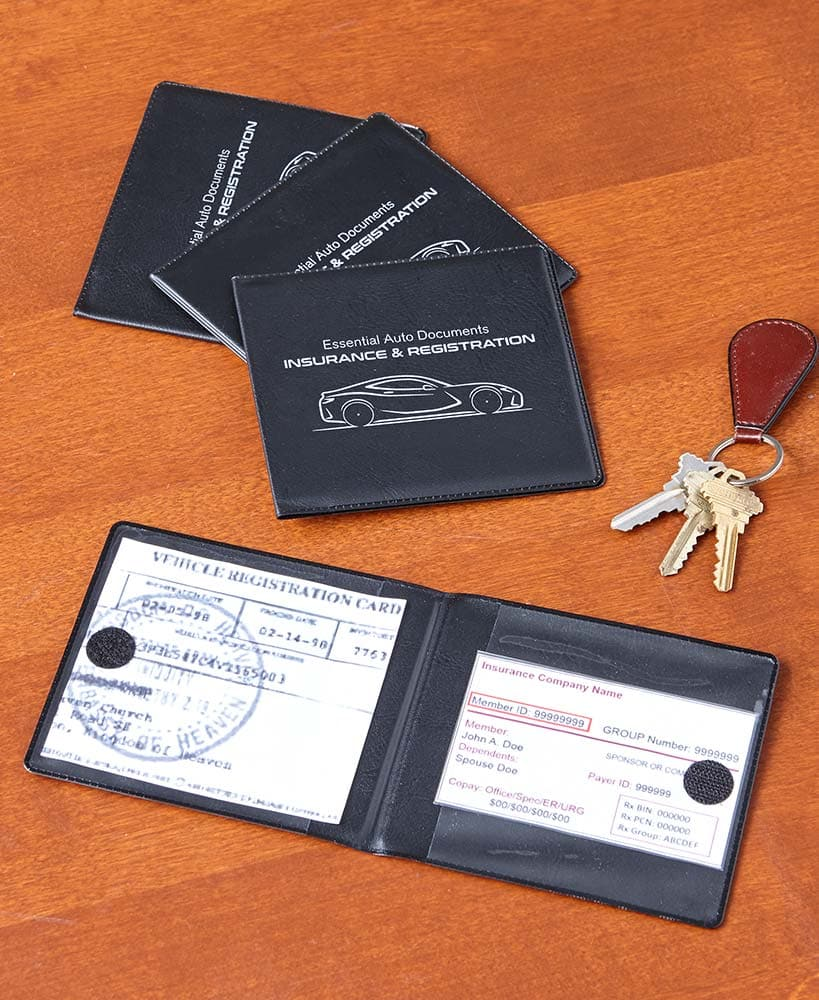 Car Registration and Insurance Wallets - FLJ CORPORATIONS