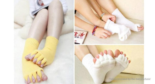 Foot Pain Relief Massage Five Toe Socks Fingers Separator (Pair) - FLJ CORPORATIONS
