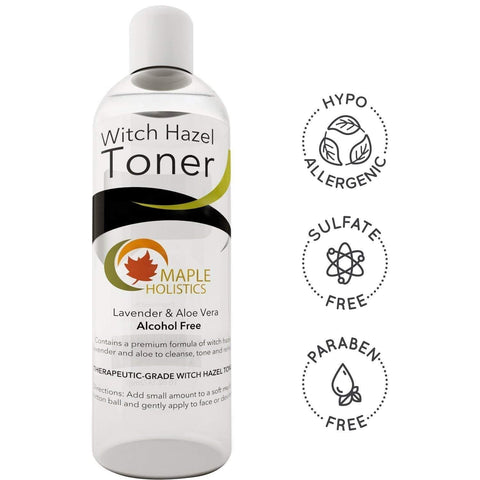 Pure Witch Hazel Toner for Face and Body Alcohol Free Therapeutic With Aloe Vera and Lavender Essential Oil Anti-Aging Natural Skin Care for Women and Men Deep Clean to Minimize Pores For Smooth Skin - FLJ CORPORATIONS