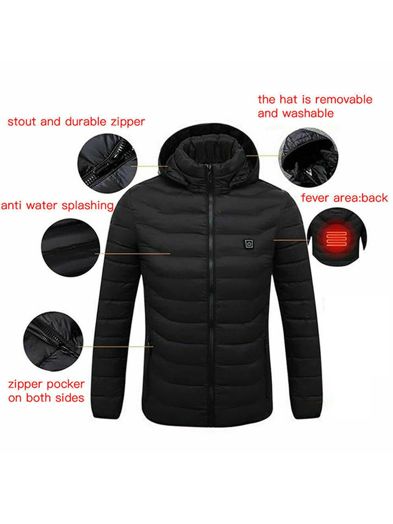 Mens Heated Hoodie Jacket - FLJ CORPORATIONS