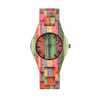 Image of Slim fashion colorful bamboo and wood watch, wooden watch quartz watch wood table - FLJ CORPORATIONS