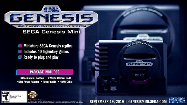 Sega Genesis Mini - Sega - FLJ CORPORATIONS