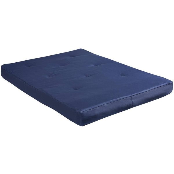 "8"" Full-Size Futon Mattress, Navy - FLJ CORPORATIONS"