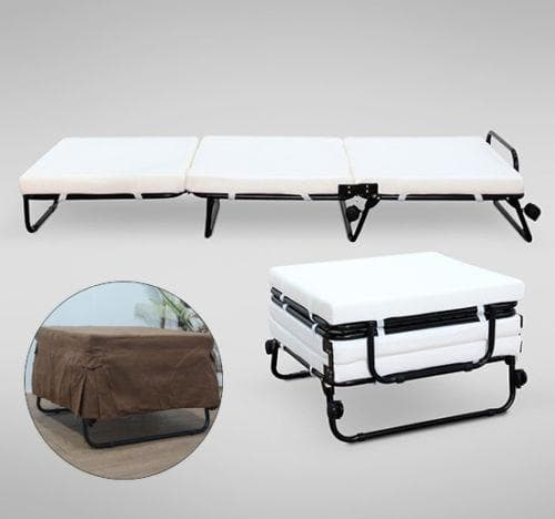 Ktaxon Folding Convertible Sofa Bed Ottoman Couch Mattress Lounge Bed Sleeper w/Casters - FLJ CORPORATIONS