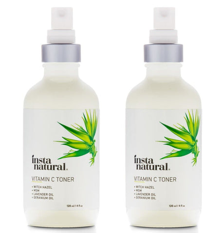 (2 Pack) InstaNatural Vitamin C Toner with Witch Hazel, 4 oz - FLJ CORPORATIONS