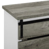 "Image of Farmhouse Grey Wash TV Stand For TVs up to 64"" by Manor Park - FLJ CORPORATIONS"