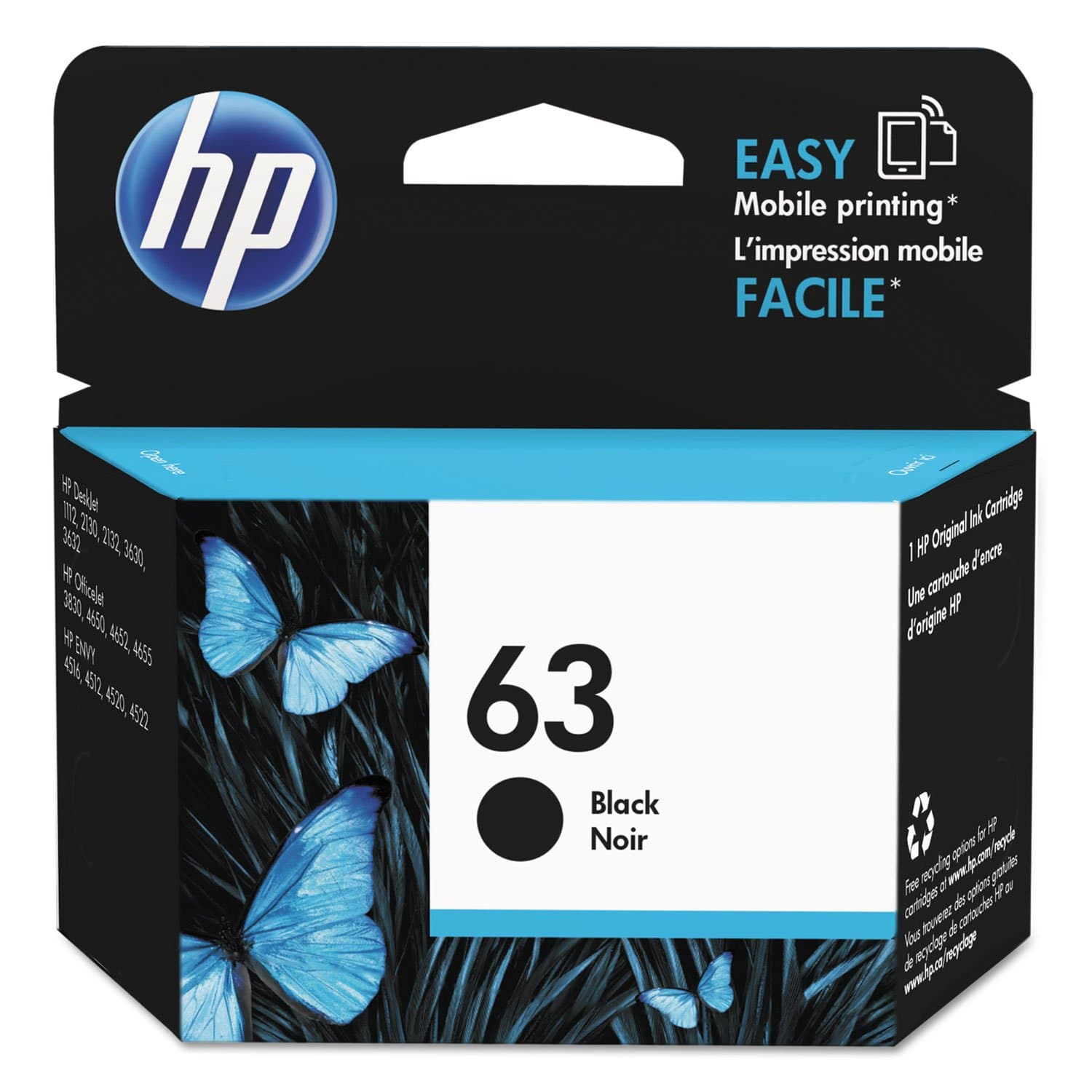 HP 63 Black Original Ink Cartridge (F6U62AN) - FLJ CORPORATIONS