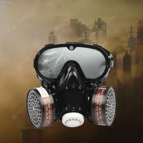 2 in 1 Mask Goggle Eyes Nose Mouth Protection Respirator Gas Mask Safety Chemical - FLJ CORPORATIONS