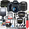 Image of Canon EOS Rebel T7 DSLR Camera with EF-S 18-55mm f/3.5-5.6 IS II Lens Plus Double Battery Tripod Cleaning Kit and Deco Gear Deluxe Case Accessory Bundle - FLJ CORPORATIONS