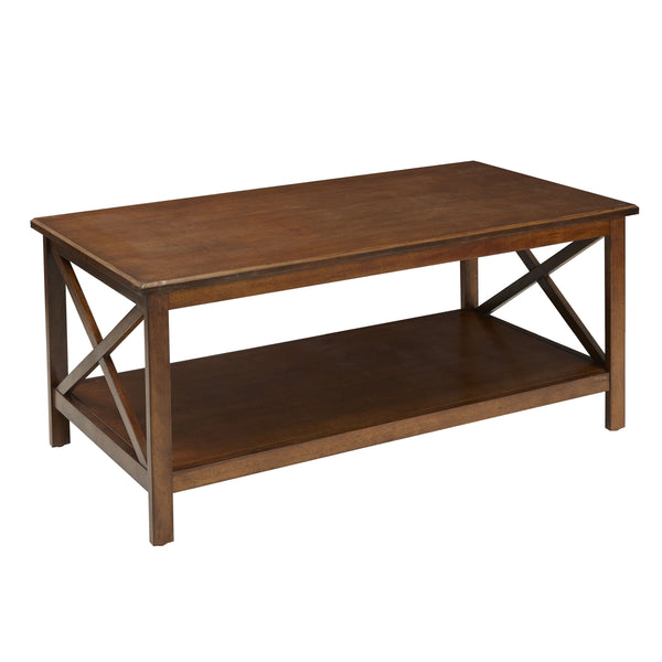 Better Homes & Gardens Coffee Table Clayton X Side Cherry Finish - FLJ CORPORATIONS
