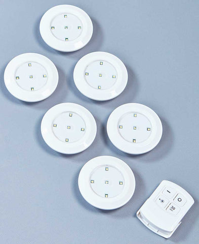 6-Pc. Wireless Lighting with Remote - FLJ CORPORATIONS