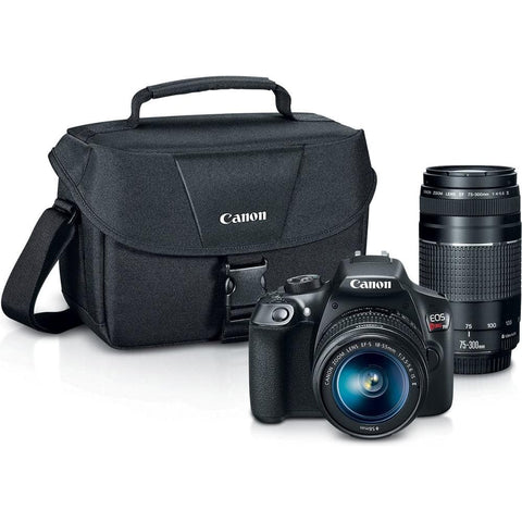 Canon T6 EOS Rebel DSLR Camera with EF-S 18-55mm f/3.5-5.6 IS II and EF 75-300mm f/4-5.6 III Lens and SanDisk Memory Cards 16GB 2 Pack Plus Triple Battery Accessory Bundle - FLJ CORPORATIONS