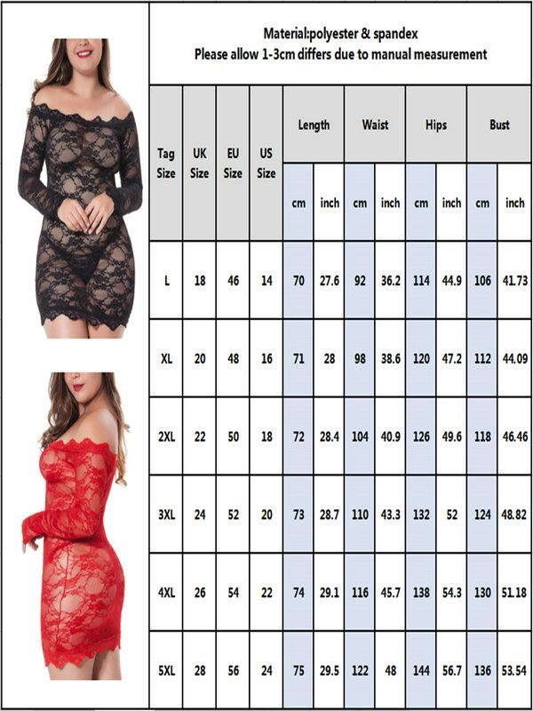 Plus size Lace Lingerie Sleepwear - FLJ CORPORATIONS