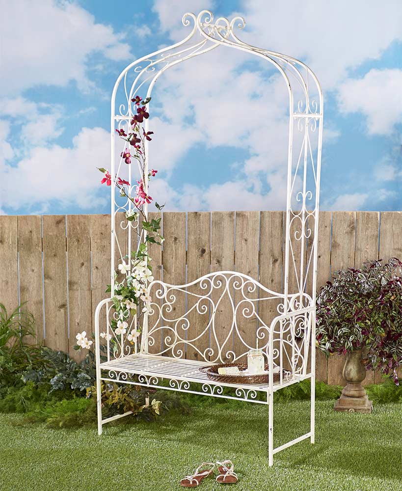 Arch Garden Trellis Benches - FLJ CORPORATIONS