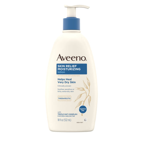 Aveeno Skin Relief Moisturizing Lotion, Dry Sensitive Skin, 18 fl. oz - FLJ CORPORATIONS
