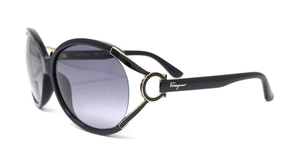 Salvatore Ferragamo Sunglasses SF600S 001 Black Oval 61x14x130 - FLJ CORPORATIONS