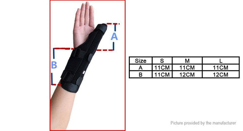 Protective Wrist Wrap Arthritis Thumb Splint Adjustable Thumb Support (Left Hand) - FLJ CORPORATIONS
