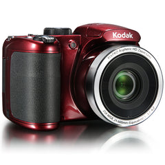 KODAK PIXPRO AZ252 Bridge Digital Camera - 16 MP - 25X Optical Zoom - HD 720p Video (Red)