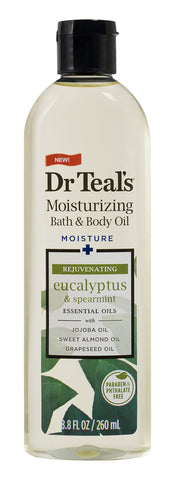 Dr Teal's Relax & Relief with Eucalyptus & Spearmint Body Oil, 8.8 fl oz - FLJ CORPORATIONS