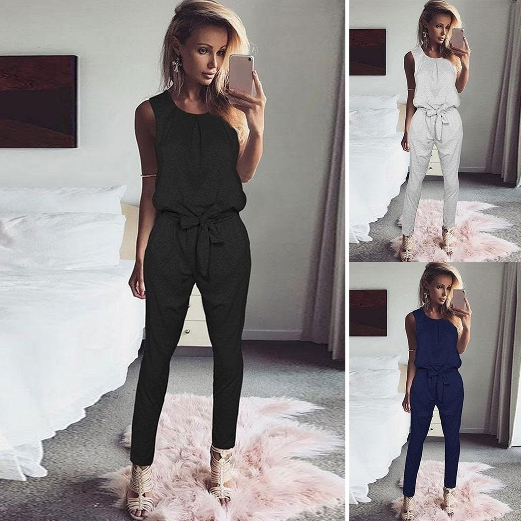 High Waist Solid Jumpsuit - FLJ CORPORATIONS