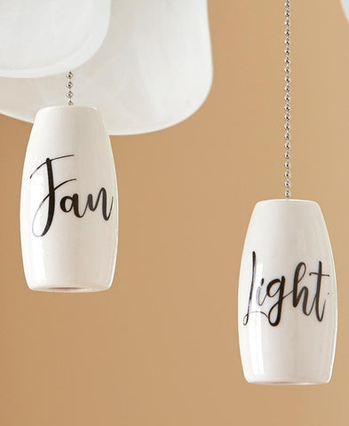Sets of 2 Ceramic Fan and Light Pulls - FLJ CORPORATIONS