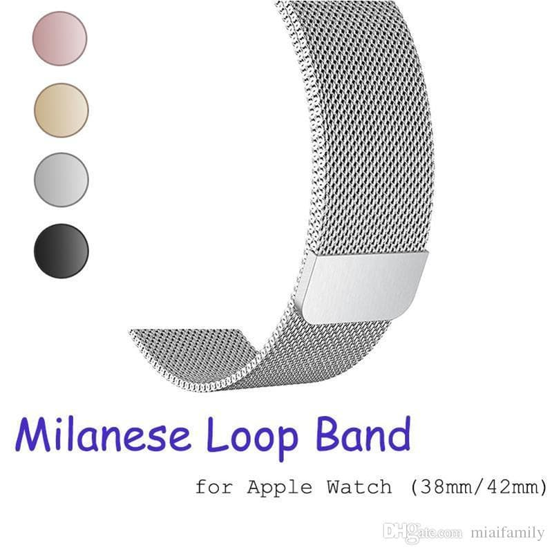 Milanese loop band for apple watch 42mm 38mm 40mm 44mm Stainless Steel strap Bracelet metal watchband for iwatch series 4 3 2 1 Epacket Free - FLJ CORPORATIONS
