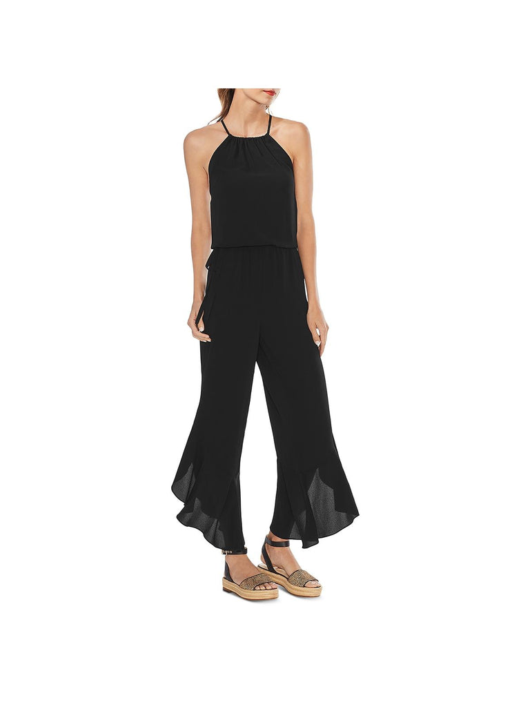 Textured Ruffled Jumpsuit - FLJ CORPORATIONS