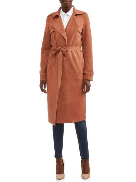 Faux Suede Trench Coat - FLJ CORPORATIONS