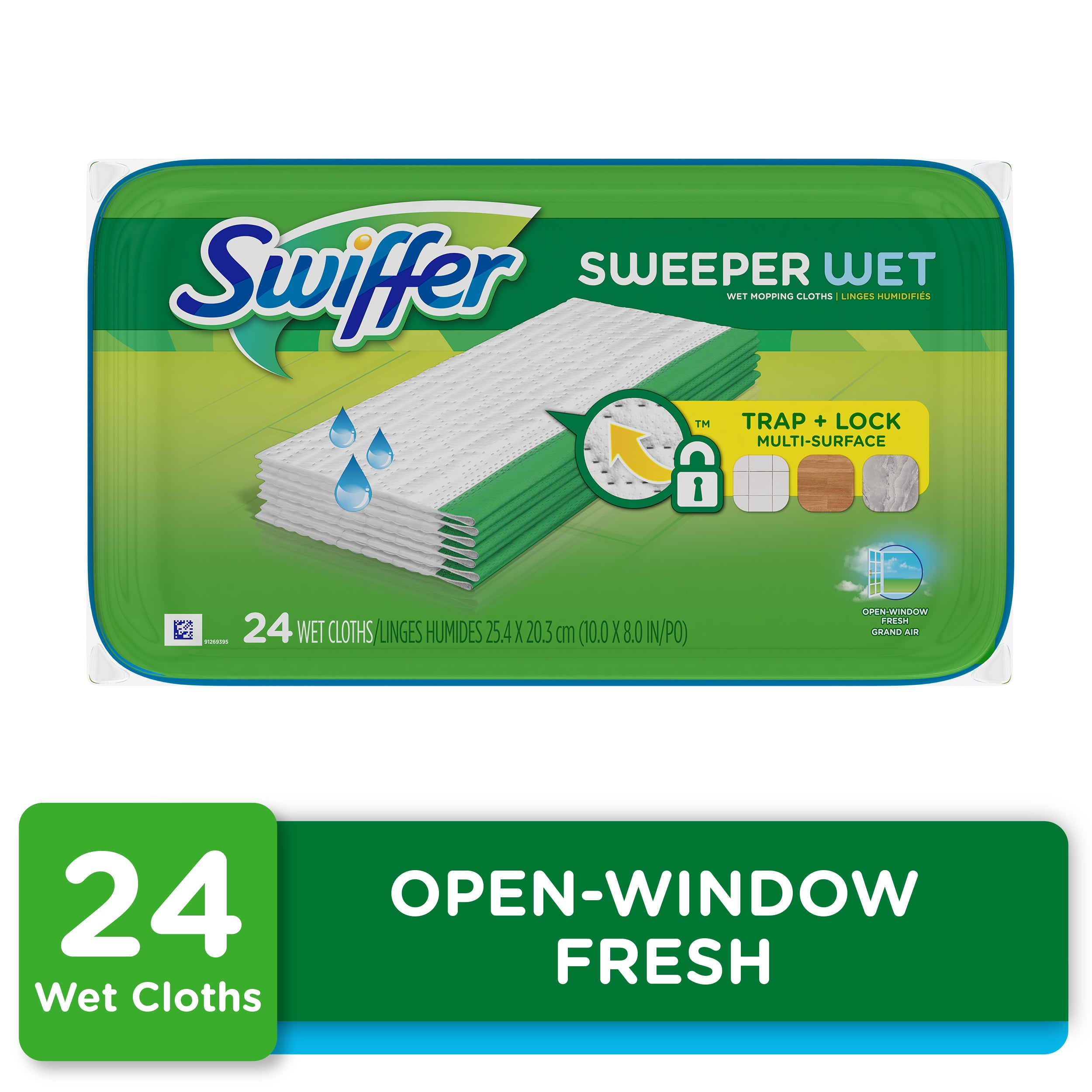 Swiffer Sweeper Wet Pad Refills, Open Window Fresh, 24 Ct - FLJ CORPORATIONS