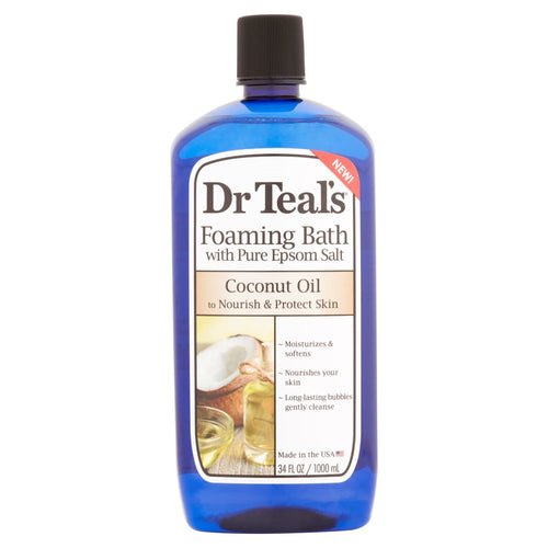 (2 pack) Dr Teal's Foaming Bubble Bath with Pure Epsom Salt and Coconut Oil, 34 oz - FLJ CORPORATIONS