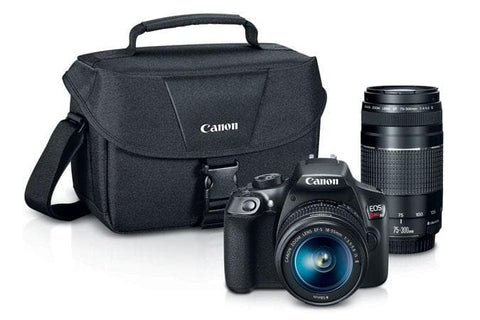 Canon EOS Rebel T6 EF-S 18-55mm + EF 75-300mm Double Zoom Kit - FLJ CORPORATIONS
