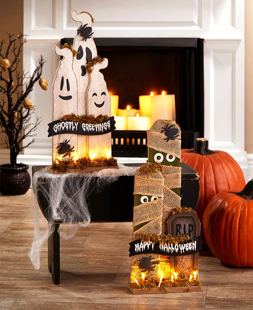 Lighted Country Halloween Characters - FLJ CORPORATIONS