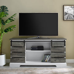 Farmhouse Grey Wash TV Stand For TVs up to 64