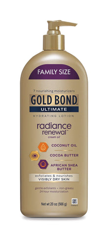 Gold Bond Ultimate Radiance Renewal Hydrating Lotion for Visibly Dry Skin, Family Size 20 oz. - FLJ CORPORATIONS